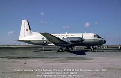 "Hawker Siddeley HS-748 Andover CC2 reg. XS793 at RAF Khormaksar circa 1967 (Ivor ""Taff"" Davies) Tags: aircraft aviation andover 1966 1967 yemen 1960s raf airfield 1965 aden airbase scannedslide onflickr royalairforce hawkersiddeley gulfofaden arabianpeninsula rafkhormaksar voigtländervitoc xs793 hs748andovercc2"
