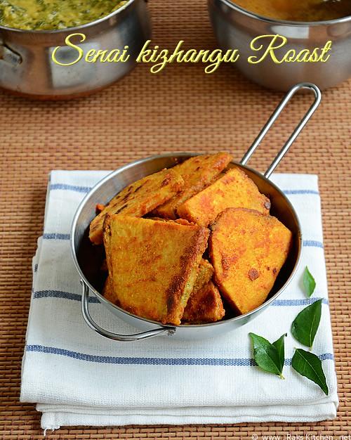 Senaikizhangu-elephant yam roast/ fry