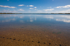Langstone Harbour (fstop186) Tags: sky reflection beach water clouds canon eos coast open view infinity space horizon haylingisland panoramic line 5d vast bythesea langstoneharbour ef24105mmf4lisusm reflectsobsessions