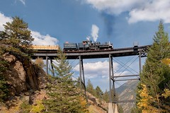 High bridge steamer (Rocky Pix) Tags: trestle bridge mountain rockies high colorado pix rocky rr georgetown f16 cc handheld eddie nikkor gauge narrow 31mm rockypix normalzoom 1160thsec coloradocentralrailroad wmichelkiteley 2470mmf28f28g highbridgesteamer