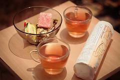Evening tea (curlsandsea) Tags: cookies evening tea cups sweets