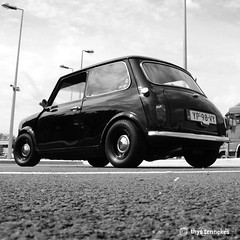 Mini (Thijs Tennekes) Tags: old light black classic car tarmac austin mini rover oldtimer thijs thys tennekes