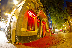 Red Light District (Foto Schlachthof) Tags: city trees light red holland tree amsterdam district puff coffeeshop prostitute fisheye pot prostitution marijuana redlight prostitutes redlightdistrict hash coffeeshops noordholland marihuana freudenhaus capitalcity