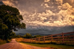 VIRGINIA COUNTRY ROAD (NC Cigany) Tags: rural farm virginia va clouds storm color tree fence remote lesstraveled