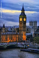 Big Ben at Blue Hour (lhg_11, 2million views. Thank you!) Tags: travel travelphotography touristattraction landmarks england london thames bigben governmentbuildings housesofparliament scenic tower clock bluehour lighting architecture buildings sky clouds westminster bridge