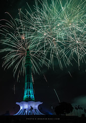 Celebration (Ibrahim Nagi) Tags: independenceday celebration freedom southasia 14august yaumeazadi fireworks colors minarepakistan lahore pakistan towerofpakistan architecture iqbalpark punjab