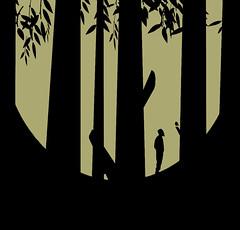 In the wood. (yamstar1) Tags: monochrome minimal minimalism graphic