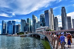 Jubilee Bridge,    Esplanade Drive. Singapore (stanley_chee) Tags: yoursingapore visitsingapore singaporecity singaporeskyline marinabaysg jubileebridge marinawaterfront marinapromenade lovessingapore