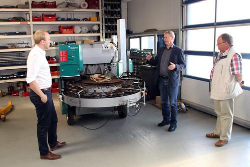 Besuch der Firma Klarmann (Mörtelmaschinen und Betonpumpen) mit dem SPD-Ortsverein Ocholt in Westerstede-Lindern.