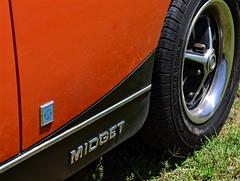 Midget (pjpink) Tags: mg midget vintage vehicle automobile convertible fun sporty orange 50yrdrm car southcentral chasecity virginia june 2016 summer pjpink