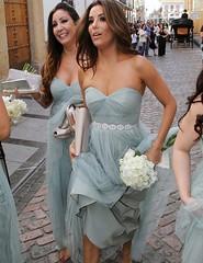 Bridesmaid Dress (provencelavender) Tags: fashion sweetheart aline long light grey bridesmaid dress with rhinestones