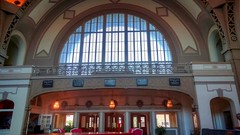 The front doors inside the Chattanooga Choo-Choo Hotel Lobby. DSC03173-01 photo by Jan (James Frazier (Nashville TN)) Tags: chattanooga choo tennessee