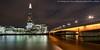 Shard and London Bridge (DSC08054) (Michael.Lee.Pics.NYC) Tags: london england unitedkingdom shard londonbridge thamesriver night clouds longexposure lighttrail traffictrail reflection sony a7rm2 voigtlanderheliar15mmf45