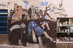 Due popoli due stati, due popoli una strage (Olivier Monbaillu) Tags: monbaillu canon eos7d murales peinturesmurales murals orgosolo orgsolo barbagia barbgia sardegna sardaigne sardinia italia italie italy