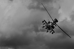 Mercurial killer (Pete 5D......) Tags: apache helicopter fighter sky moody mercurial weapon rotor blade bw