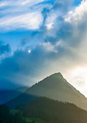 Mountain View (mattinho2704) Tags: mountain glow bluesky bluehour blue sun sunset berge berg himmel sky silhouettes skyscape landscape nature natur naturephotography travel austria sterreich trees nikon alpen alps alpine