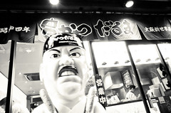 Street Fragments #223 - Osaka Daydream (Yoshi T. (kagirohi)) Tags: japan japanese osaka namba minami dohtonbori blackwhite bw street streetphotograph streetphotography alley fragment urban city cityscape snapshot ricoh gr ricohgr                  blackandwhite monochrome depthoffield