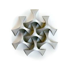 Going smoother! #origami #tessellation #corrugation (_Ekaterina) Tags: origami paper paperfolding corrugation tessellation silver gray curved curvedfold ekaterinalukasheva
