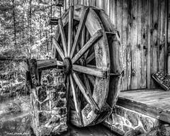 The Waterwheel (that_damn_duck) Tags: blackandwhite monochrome waterwheel rustic bw blackwhite