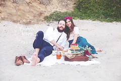 5 Year Anniversary (Mariana Warne) Tags: anniversary softtones solanabeach love couple marriage picnic beach ocean sandiego california 50mm canon canon6d 6d rustic vintage naturallight sand