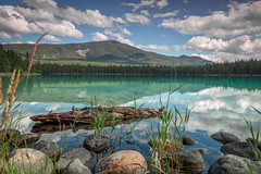 Lake Annette, Jasper, Alberta, Canada (Casper-Larsen) Tags: lakeannette jasper alberta canada canon 6d nd grad 24105mm ef24105mmf4lisusm water sky mountain reflection stone