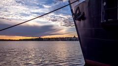 Docked (Jens Haggren (mostly off)) Tags: olympus em1 ship docked dockline sunset clouds sky water riddarfjrden stockholm sweden