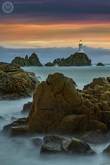 Corbiere Lighthouse - Jersey (MAC-Photography.co.uk) Tags: corbiere lighthouse sunset storm rocks sea water longexposure landscape seascape jersey stbrelades