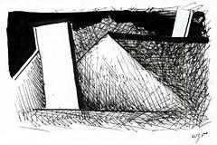 Wolfram Zimmer: Built up - Aufgebaut (ein_quadratmeter) Tags: wolfram zimmer bilder kunst malerei zeichnung images foto photo fotos photos gemlde wolframzimmer konzeptkunst objektkunst meinzimmer freiburg burgbirkenhof kirchzarten ausstellung ausstellungen pinsel tusche ink dessin exhibition exhibitions drawing landschaft landscape improvisation haus building
