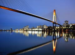 Brownsville (costenstad) Tags: surrey brownsville park new westminster skytrain bluehour nightphotography