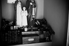 undecided (reinetor) Tags: street light shadow bw sculpture monochrome japan composition eos asia picture 5d stm auschwitz nagasaki f28 bombing sacrifice maximilian strolling kolbe mark3   primelens  ef40mm