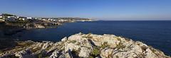 Leuca (ROSSANA76 Getty Images Contributor) Tags: panorama de faro mediterraneo italia mare blu cielo rocce acqua turismo salento puglia vacanza sud città scogliera leuca terrae finibus