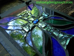 first cross collaboration (stratoz) Tags: blue sky tree green glass reflections cross mosaic wayne margaret designs slate almon nutmeg lansdale stratz