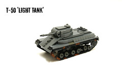 T-50 'Light Tank' ([Stijn Oom]) Tags: world 2 war tank lego wheels ww2 mags russian t50 dp28