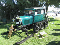 Early Ford Snow Machine (Hugo90) Tags: auto show snow ford car modela britishcolumbia machine surrey event vehicle crescentbeach concours meet tracked delegance