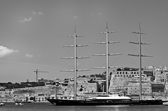 The Maltese Falcon (SDeb0003) Tags: sea marina islands boat europe mediterranean european sailing yacht malta sail maltese masts maltesefalcon valletta birgu
