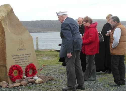 Arctic Co 1nvoy veterans at Loch Ewe memorial 3
