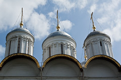 Inside Kremlin (dorochina) Tags: red church square gold cross russia moscow center cupola orthodox kremlin