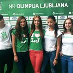Hostese Agencija 22 za NK Olimpija Ljubljana. 01.09.2012.