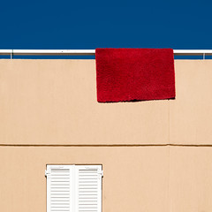 hanging carpet (Thomas Leth-Olsen) Tags: red carpet colours bluesky hanging locations urbanabstract garbejaire