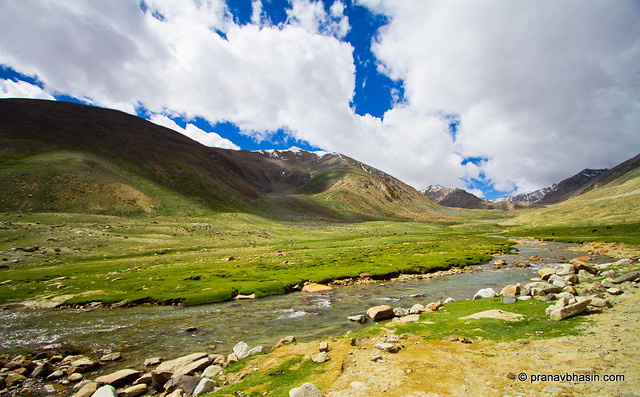 River Flows Down The Mountains At Leh, Ladakh