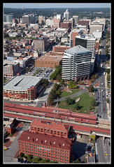 Downtown Skyline of Wilmington, Delaware (SkylineScenes (Bill Cobb)) Tags: city urban station skyline train downtown cityscape aerial amtrak chase delaware wilmington metlife citizensbank ingdirect christinariverfront comptonvillage skylinescenes