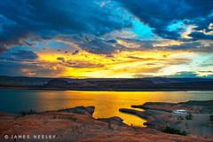 Golden Sunset (James Neeley) Tags: sunset landscape utah houseboat lakepowell bullfrogbay jamesneeley