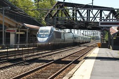 2154 Under The Trestle (CommuterColin0906) Tags: trestle bridge ma acela 2154 readville