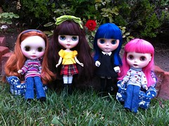 Four Blythes in the Garden 1