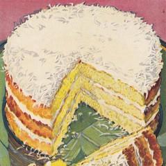 Lightning Layer Cake (briangiwojna) Tags: new cake illustration 1931 book cookbook 1930s cook down swans layer lightning flour secrets 30s