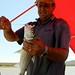 Gerard e um Tiger Fish no anzol