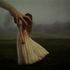 what moves us (brookeshaden) Tags: field fog fairytale moving hand arm surrealism help guide fineartphotography manipulate brookeshaden