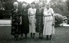 Margaret Bodensteiner, Mary Schlichte, Theresa Bodensteiner, Lizzie Lusson, Katie Drilling