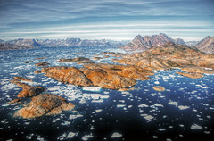 summer landscape greenland coast (mariusz kluzniak) Tags: summer mountains bird ice broken window america airplane landscape coast view sony north arctic greenland sheet iceberg polar alpha 580 a580