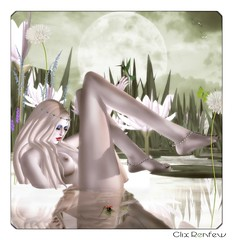 ||Introspective|| (Clix Renfew ) Tags: water beautiful digital reflections pose photographer shadows avatar dramatic fantasy secondlife passion magical moods atmospheric clix zaara slink lelutka trasognoerealta clixrenfew creativeimageryphotography laccessoires